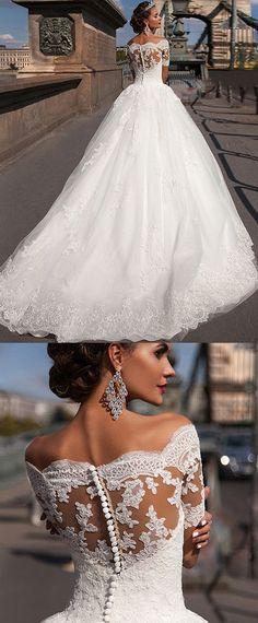 wedding dress 40+ Beste weg von der Schulter Brautkleider #weddinggowns