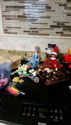 Stormy and Sophia's candy mess.  #elfonashelf #crazyelf