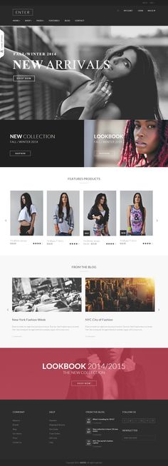 Enter - eCommerce Fashion Responsive html5 template