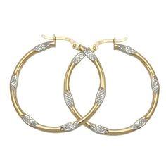 Creole, bicolor, diamantiert, 9Kt GOLD Dreambase http://www.amazon.de/dp/B00I4VI06S/?m=A105NTY4TSU5OS