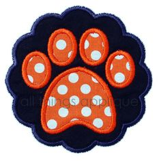 Paw Print Scallop Patch