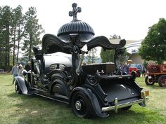 Ornate Carved Panel Hearse
