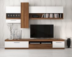 Modern Tv Room, Modern Tv Wall Units, Tv Unit Decor, Tv Wall Decor, Wall Tv, Living Room Tv Unit Designs, Living Room Wall Units, Tv Cabinet Design, Tv Wall Design