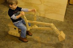 Child Powered Sandbox Digger by RoRosWoodshop on Etsy