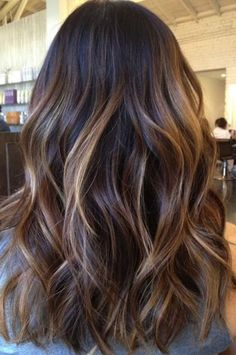 Seamless balayage on long black hair pretty hair pinterest image result for brown hair small highlights pmusecretfo Images