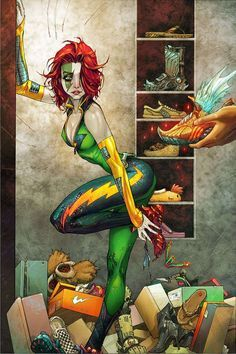 Velocity: Comic Book Art by Kenneth Rocafort -- Cyberforce, Image Comics, Top Cow