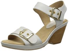 Bella Vita Women's Jinny Wedge Sandal, Ice, 7 M US for sale Wedge Sandals, Wedges, Amazon, Best Deals, Lady, Ice, Stuff To Buy, Shoes, Awesome