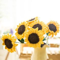 53 Best Crochet Sunflower Images In 2019 Granny Squares Crochet