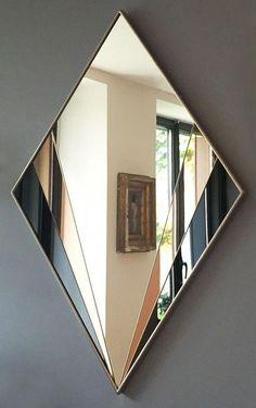 Jean-Louis Deniot Reveals His Blissful and Historic LA Abode - Amazing luxury mirror ideas to inspire you - Art Deco Design, Glass Design, Decor Interior Design, Interior Decorating, Decoration Hall, Spiegel Design, Mirror Inspiration, Mirror Ideas, Tinted Mirror
