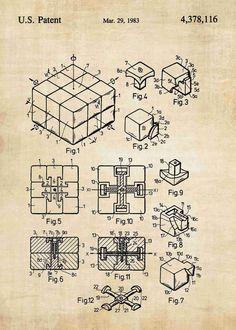 Kubo surinkimas rubic cube pinterest cube rubiks cube patent print malvernweather Image collections