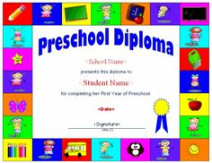 I hope you enjoy these free diplomas check out our editable preschool diploma template with versions in word and pdf formats yadclub