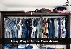 easy way to store jeans