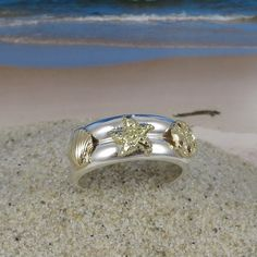 Hey, I found this really awesome Etsy listing at https://www.etsy.com/listing/94353121/14k-gold-and-sterling-silver-double-sea