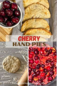 Homemade Cherry Hand Pies are sure to be a favorite! These delightful little pocket pies oozing with sweet and tart cherry filling and golden and flaky crust are great for Summer potlucks,  after-meal dessert,  or anytime you need a sweet treat. #bakedgoods #handpies #dessert Easy Pie Recipes, Best Dessert Recipes, Easy Desserts, Delicious Desserts, Breakfast Recipes, Cooking Recipes, Fruit Hand Pies, Cherry Hand Pies, Old Fashioned Cake Recipe