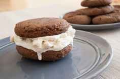Peanut Butter Cookie Ice Cream Sandwich paired with Cameron Hughes Lot 414 Prosecco   Recipe by Chef Kellan Hori