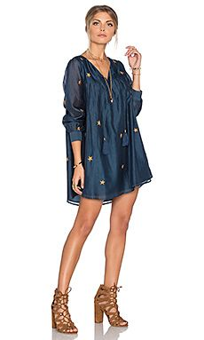 Star print navy dress