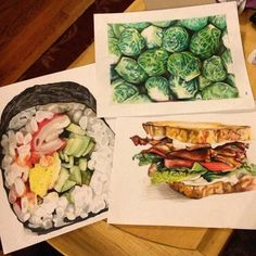 """""""Food art by . What's your favorite food? Want to be featured? Use the hashtag for a chance to be…"""" Fresh Rolls, Food Art, Your Favorite, Favorite Recipes, Ethnic Recipes, Instagram Posts, Artist, Artists"""