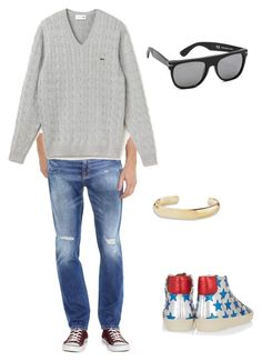 """""""Untitled #944"""" by abbey-ceee ❤ liked on Polyvore featuring Levi's, Yves Saint Laurent, Lacoste, RetroSuperFuture, David Yurman, women's clothing, women, female, woman and misses"""
