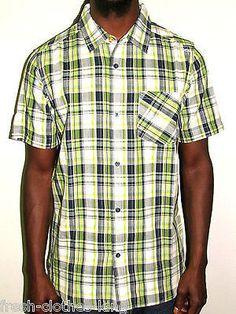 Quiksilver Button Up Shirt New Mens Billington Navy Green Plaid Choose Size