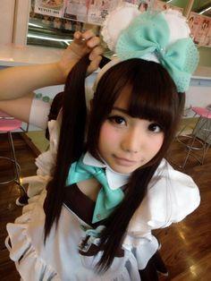 Wear a kawaii maid outfit! Maid Cosplay, Asian Cosplay, French Maid Dress, Japan Outfit, Maid Outfit, Cute Japanese, Japanese Street Fashion, Japan Girl, Asia Girl