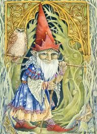 Wizard Gnome with Owl by Suzanne Gyseman <3