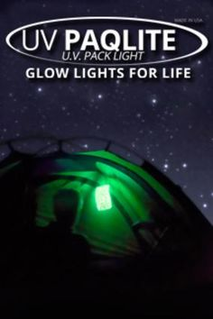 Uv Paqlite - Reusable Lights. Rechargeable glowsticks! Don't go bad so you can put them in your emergency packs or just around the house for when the lights go out. Or even for night lights for the kids.