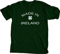 Urban Outiftters St. Patrick's Day Irish MADE IN IRELAND Green Tee T-Shirt #holiday #stpattysday #stpatricksday