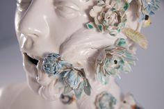Jess Riva Cooper Santa Lucia, Colossal Art, Grid Design, Magazine Art, Sculpture Art, Ceramic Sculptures, Sculpture Ideas, Urban Art, Colorful Flowers