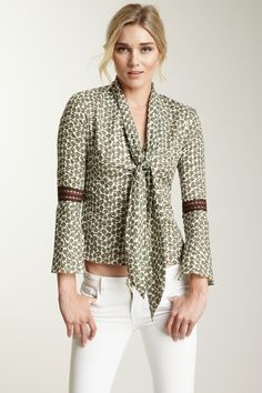 Polli Says  Lace Elbow Scarf Apple Shirt