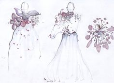 Fashion sketches inspired by winter garden | FASHION TEACHING by ...