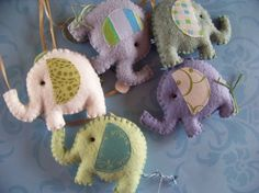 """Baby Mobile - Baby Crib Mobile - Elephant Mobile - Nursery Baby Room """"Elephants Parade"""" (You can pick your colors) on Etsy, $50.00"""