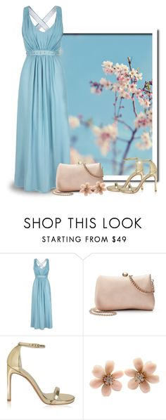 """Pastel Blue Maxi Dress"" by majezy ❤ liked on Polyvore featuring Uttam Boutique, LC Lauren Conrad, Stuart Weitzman and Van Cleef & Arpels"