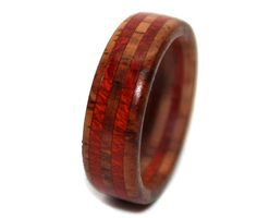 Rosewood Bloodwood Wooden Ring