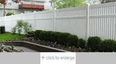 The Huntington® -  6' High x 8' Wide Vinyl Semi Privacy Fence by The USA Vinyl Fence Company