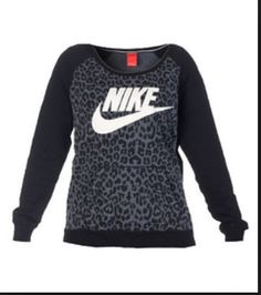 nike leapord sweatshirt. cozy and comfy!