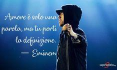 Amore è solo una parola, ma tu porti la definizione. — Eminem Wave Tatto, Tumblr, Mobile App Development Companies, Seo Company, Delena, Eminem, Sentences, Photo S, Crushes