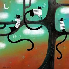 CAT LOUNGE by Terry Runyan