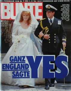 Bunte 1986 Heft 31 Hochzeit Prince Andrew Sarah Ferguson