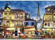 Old Paris 250 Piece Wooden Jigsaw Puzzle