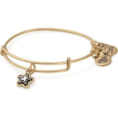 Alex and Ani True Wish Expandable Wire Bangle ($34) ❤ liked on Polyvore featuring jewelry, bracelets, gold, wire jewelry, bangle bracelet, expandable bangle bracelet, bangle jewelry and hinged bangle