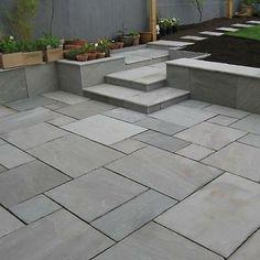 Trendy ideas for grey patio slabs shops Garden Slabs, Garden Tiles, Patio Slabs, Patio Tiles, Concrete Patios, Garden Paving, Outdoor Tiles, Outdoor Paving, Patio Stone
