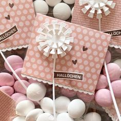 NEUE GOODIE-TÜTCHEN – www.ScrapGöre.de Goodies, Gift Wrapping, Gifts, Pink, Stamps, Life, Do Crafts, Sweet Like Candy, Gift Wrapping Paper