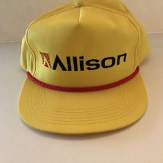 Allison Transmission Snapback Vintage K-Products Made in USA Ball Cap Hat #KProducts #BaseballCap