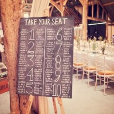 The pros and cons of the seating chart!!! Should you have one? (Image via Style Me Pretty)