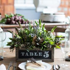 Chalkboard Boxes are a great way to number your tables at a wedding or label goods in your home.  One of our favorite products!  www.pressedcotton.com