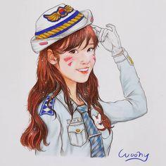 "3,336 lượt thích, 50 bình luận - woony (@jinny3148) trên Instagram: ""색연필로 그려 봤습니다ㅎㅎ 친한 동생의 부탁으로..!!! 경찰디바유를~~그나저나.. 엄청 보고싶네요.아이유님.. (밤편지 들으러 가야지) #overwatch #iu…"" Color Pencil Art, People Art, Little Sisters, Korean Singer, Colored Pencils, Princess Zelda, Animation, Fan Art, Draw"