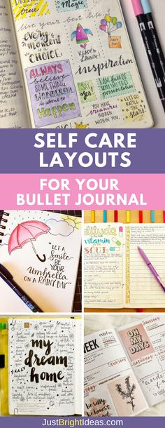Life is super stressful and if you use a Bullet Journal to keep on top of things you'll love these examples of self care activities you can do right there in your BuJo to improve your wellbeing. #bulletjournal #selfcare
