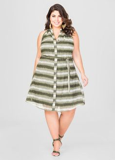 belted tie dye stripe dress   best dressed   pinterest   plus size