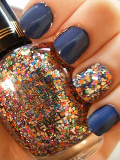 Milani in Gems. Best accent color EVER! #accentnail #glitter