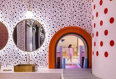 李想兒童設計 - Google 搜尋 Soft Play Area, Mirror Ceiling, Rest Area, Kids Zone, Modern City, Reception Areas, Color Lines, Booth Design, Kid Spaces